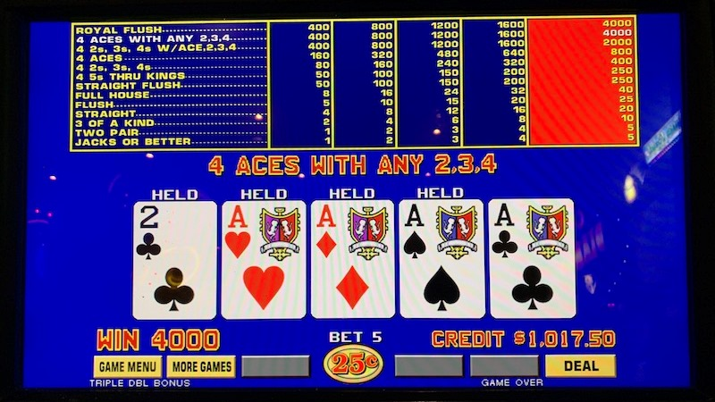 How to Play Double Bonus Video Poker